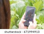 chiang mai  thailand   july 1st ... | Shutterstock . vector #671994913