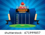 vector of cricket championship... | Shutterstock .eps vector #671999857