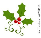 christmas holly berry symbol.... | Shutterstock .eps vector #67200613