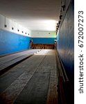 Small photo of Kolmanskop Bowling Alley in March 2017. Kolmanskop is a ghost town in Namibia. The richest town in Africa during diamond mining boom early 20th Century, with by modern amenities.