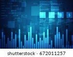 2d rendering stock market...   Shutterstock . vector #672011257