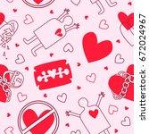 vector heart and razor love...   Shutterstock .eps vector #672024967