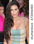 """Small photo of NEW YORK - JUNE 12, 2017: Demi Moore attends the premiere of """"Rough Night"""" at the AMC Lincoln Square Theater on June 12, 2017 in New York City."""
