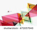 triangular low poly vector a4... | Shutterstock .eps vector #672057043