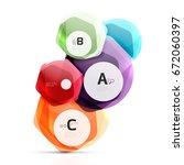 geometrical hexagon aqua... | Shutterstock .eps vector #672060397