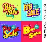 sale banner template design ... | Shutterstock .eps vector #672066073