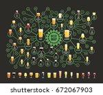 beer styles map for bars.... | Shutterstock .eps vector #672067903