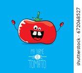 vector funny cartoon cute red... | Shutterstock .eps vector #672068527