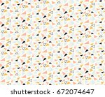 seamless abstract stylish... | Shutterstock .eps vector #672074647