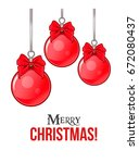 christmas greeting card with... | Shutterstock .eps vector #672080437