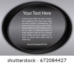 template black  silver and... | Shutterstock .eps vector #672084427