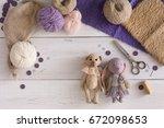handmade toy making  artisan...   Shutterstock . vector #672098653