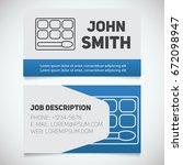 business card print template... | Shutterstock .eps vector #672098947