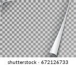 curled corner of paper.... | Shutterstock .eps vector #672126733