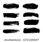 abstract black paint set for... | Shutterstock .eps vector #672134047