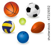 set of sport balls. vector. | Shutterstock .eps vector #67215052