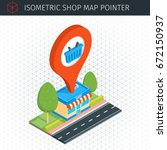 isometric shop building with... | Shutterstock .eps vector #672150937