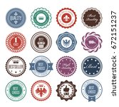 emblems  badges and stamps  ... | Shutterstock .eps vector #672151237