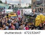 demonstration against g20... | Shutterstock . vector #672152647