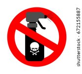 stop spraying poison. red road... | Shutterstock .eps vector #672155887