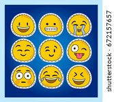set of emoticons  icon pack ...   Shutterstock .eps vector #672157657