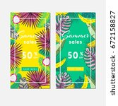 summer sale background layout... | Shutterstock .eps vector #672158827