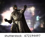 batman dc multiverse series... | Shutterstock . vector #672194497