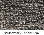 old grunge stone wall background | Shutterstock . vector #672218707