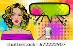 beautiful sexy female girl...   Shutterstock .eps vector #672222907