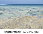 fisherboat in the blue seagrass ... | Shutterstock . vector #672247783