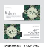 gift voucher template premium... | Shutterstock .eps vector #672248953