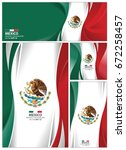 mexico flag abstract colors...