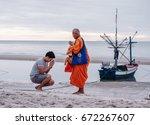 huahin thailand  june 24 2017   ... | Shutterstock . vector #672267607