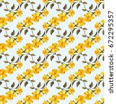 seamless floral pattern with... | Shutterstock .eps vector #672295357