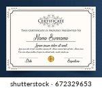 creative certificate template... | Shutterstock .eps vector #672329653