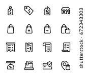 shopping concept   icon...   Shutterstock .eps vector #672343303