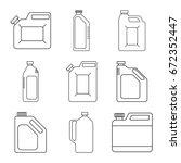 blank plastic canisters. modern ... | Shutterstock .eps vector #672352447