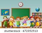 vector illustration of many... | Shutterstock .eps vector #672352513