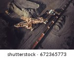 coal mining from above | Shutterstock . vector #672365773