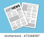 newspaper city news with... | Shutterstock .eps vector #672368587