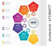 vector dynamic infographics of... | Shutterstock .eps vector #672386977