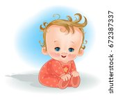 illustration of a baby on a...