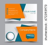 business card set template for... | Shutterstock .eps vector #672393973