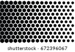 halftone hexagons vector.... | Shutterstock .eps vector #672396067