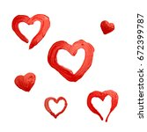 painted red heart   Shutterstock . vector #672399787