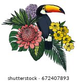 vector composition of colorful... | Shutterstock .eps vector #672407893