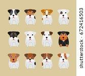 cute terrier coloring variations | Shutterstock .eps vector #672416503