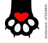 Big Black Cat Paw Print Leg...