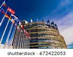 strasbourg  france   june 14 ... | Shutterstock . vector #672422053