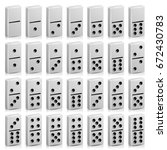 Domino Set Vector Realistic 3d...